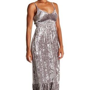 Romeo & Juliet Crushed Velvet Cami Maxi Dress